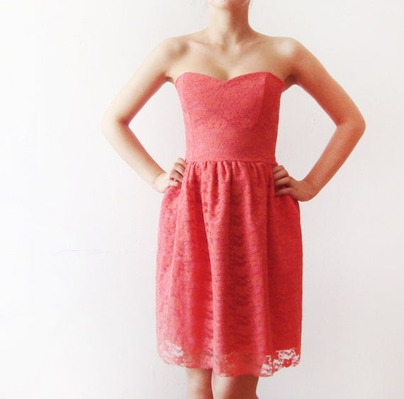Items similar to SALE Coral Dream - Pink Coral Lace and ...