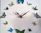 3D Butterfly Circle Wall Art Clocks No.17