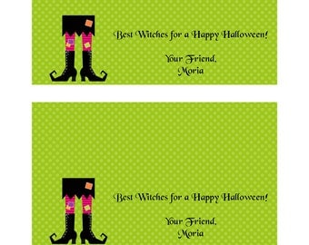 Printable Green Witch Treat Bag Topper