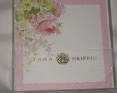 Anna Griffin Pink Floral Invitation/Announcement Card