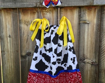 "Jessie inspired ""Toy Story"" Pillowcase Dress"