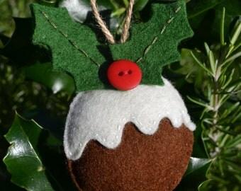 Hanging Christmas Pudding - Christmas Tree Decoration
