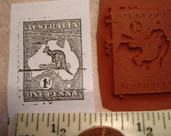 Australia kangaroo post postage stamp  Rubber stamp un-mounted scrapbooking rubber stamping journal