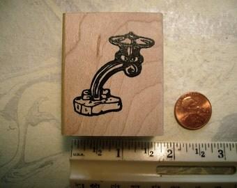 Asian japanese garden lantern stone lamp  rubber stamp wood mounted scrapbooking rubber stamping