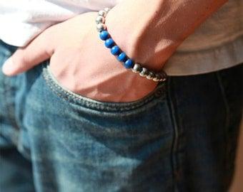 Mens Metal Bar Bracelet - Mens Bracelet - Stainless Steele - Gun Metal Bracelet