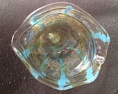 Worked Glass Ashtray/Dish