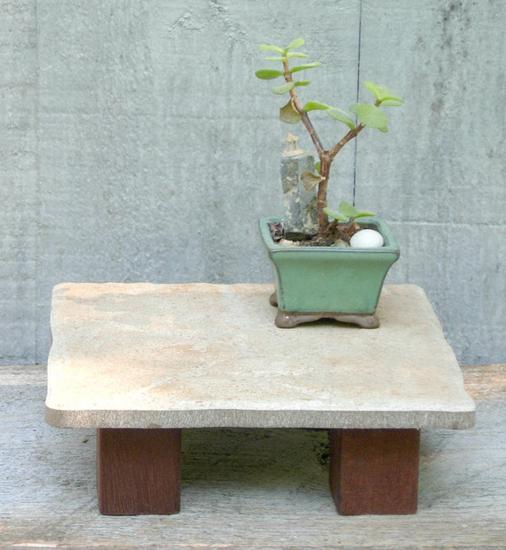 Small Ceramic Tile Table - Handcrafted Plant Stand or Trivet
