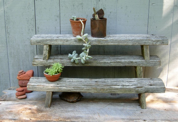 Reclaimed driftwood plant stands handcrafted wooden tables for Driftwood tables handmade