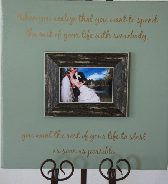 Wedding Love Quote Spending your Life Personalized Picture Frame Oak 16x16