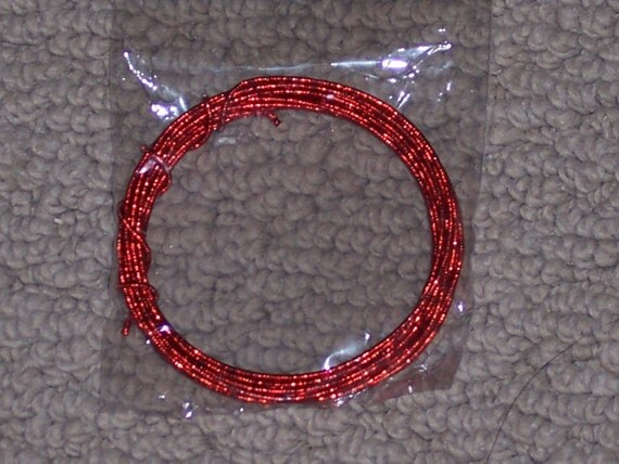 Red glitter wire craft wire 20 gauge 3 ydchristmasholiday for 10 gauge craft wire