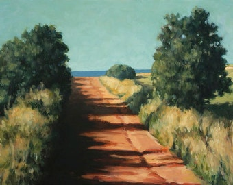 "Road to the Sea, 6.25"" H x 10"" W, Offset Print by Paul Hannon, FREE SHIPPING Canada & US"