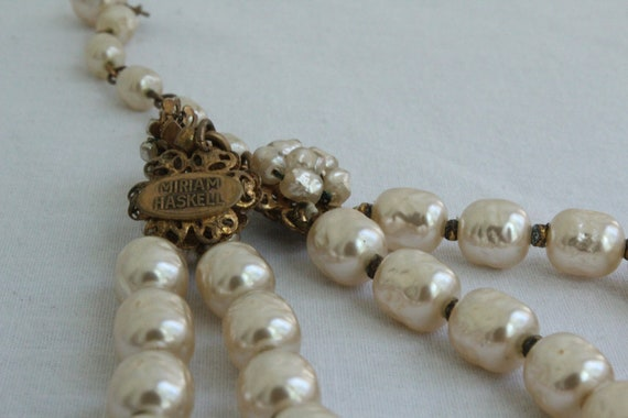 RESERVED - Use coupon code WEEKENDSALE at checkout to receive 20% off Collectable signed Miriam Haskell Baroque Pearl double strand necklace