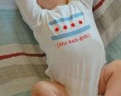 Chicago Flag Baby Long Sleeve Onesie