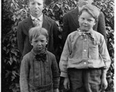 Cute Kids and Children -  Real Photo Postcard, 4 Boys, 4 Different Moods and Expressions - Brothers
