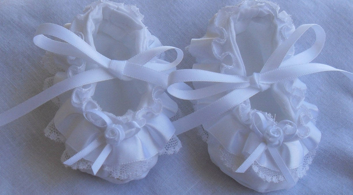 Baby girl christening blessing baptism shoes by
