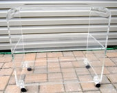 RESERVED FOR JACKIE - Lucite 3 Tier Bar/Tea Rolling Cart - Waterfall Karl Springer Style