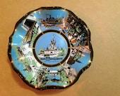 Pair of Walt Disney World Walt Disney Productions The Magic Kingdom (2) Candy Dish Ash Tray Vintage Antique Disney