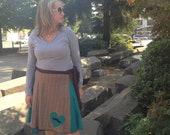 Reserve for Heather Upcycled Skirt: Elementary My Dear Watson