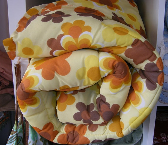 70's flower vintage quilt eiderdown