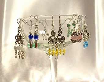 Earring Lot of Awesome Chandeliers and Dangles for Each Day of the Week