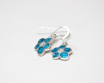 Forget Me Not Fund... enamelled earrings.