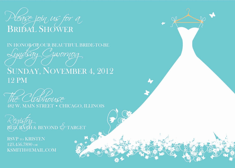 Tiffany Blue Wedding Invitations Kits: Tiffany Blue Bridal Shower Dress Invite
