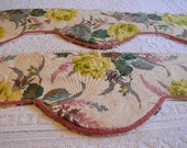 Vintage Barkcloth Valance