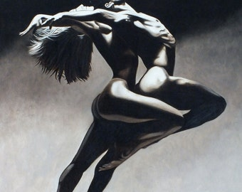 Dance Erotic - Original Oil Painting on stretchered canvas by International artist Allen Richings