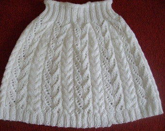 White capelet  poncho lace cabled FREE shipping