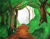 "8x10.5 Print of original Painting ""Through the Woods"" by Amanda Pennington"