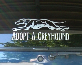 "Medium ""Adopt A Greyhound"" Decal (10 inch)"