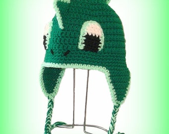 Dragon Earflap Hat. (Any Sizes: Newborn to Adult). Please send the size.