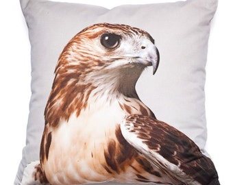 Decorative Throw Pillow Red Tail Hawk