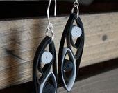 1st Anniversary Gift of Her / Modern Paper Earrings / Lightweight Earrings / Paper Jewelry / Eco Friendly Jewelry - Pod