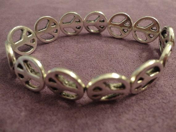 tibetan silver peace sign bracelet