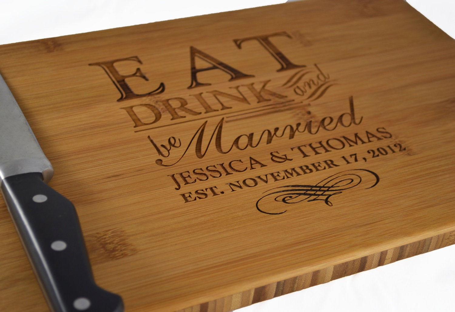 Personalized Cutting Board Eat Drink and Be