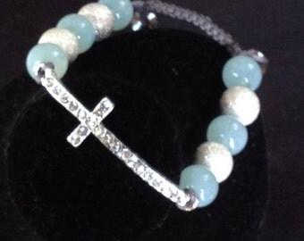 Shamballa Bracelet with- cross