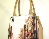 Exclusive Handmade Painted Natural Leather Bag - London