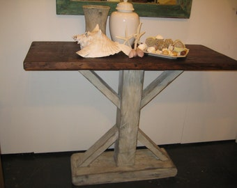 SOFA TABLE recycled wood USA made