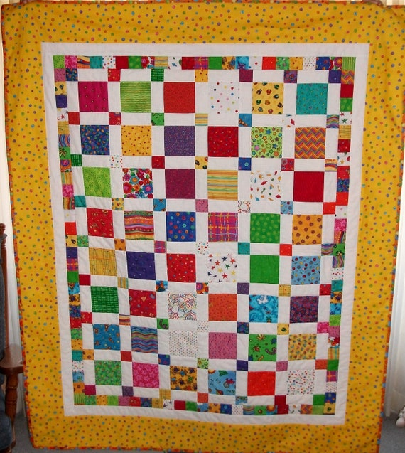 Year End Sale - Use YEAREND20 coupon code for 20% off - I Spy Children's Lap Quilt - Children's Quilt