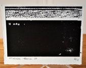 73H 0r3g0n 7r41L (the oregon trail) glitch 06 - screenprint - edition of 8