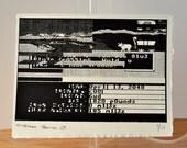 73H 0r3g0n 7r41L (the oregon trail) glitch 08 - screenprint - edition of 17
