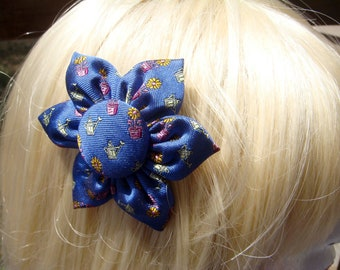 "Silk ""Gardening"" Hair Clip / Pin"
