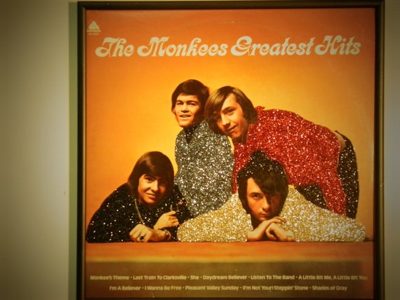 Glittered Record Album - The Monkees Greatest Hits