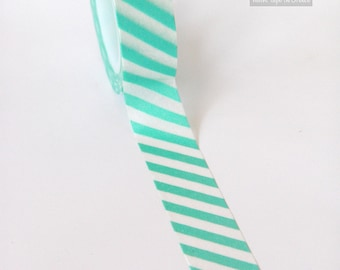 WASHI TAPE, turquoise with white stripes