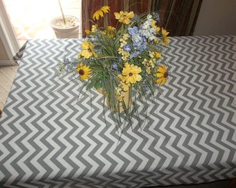 SALE TODAY! Gray Chevron Zigzag Table Cloth