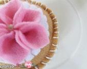 SALE SALE Felt  cake/dessert Pincushion/Pin keeper/ Felt Toy/Home decor, Handmade/ hand-stitched , No glue  No sewing machine