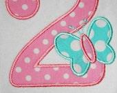 Butterfly Birthday Number Shirt or Onesie - Custom Monogrammed