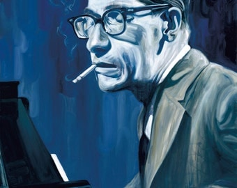 Portrait of Bill Evans - 8x10 Archival Art Print by Scott Laumann