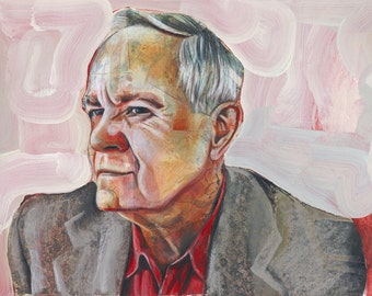 Portrait of Cormac McCarthy - 11x14 Archival Art Print by Scott Laumann